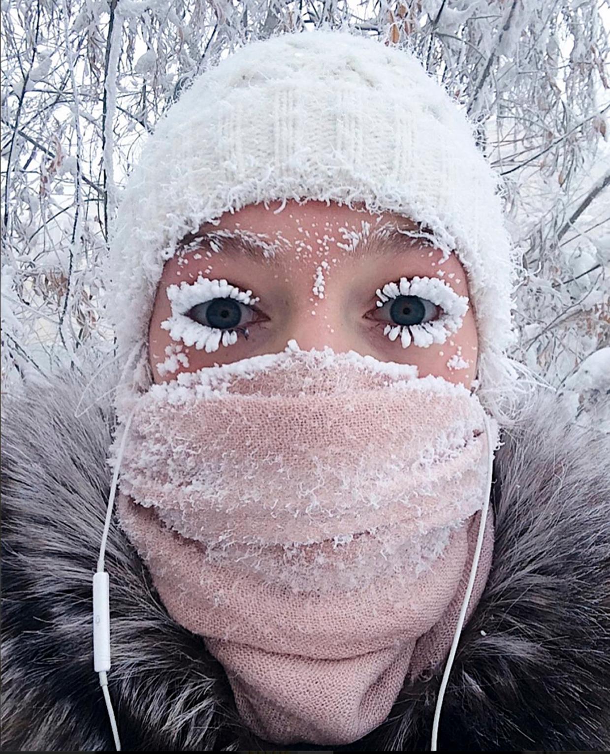 eyelash freeze - Coldest Place On Earth, Where Eyelashes Freeze